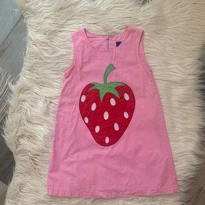 Mini Boden Pink Strawberry Dress 2-3Y EUC
